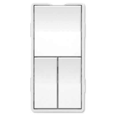Simply Automated UPB Faceplate, Triple Rockers, White