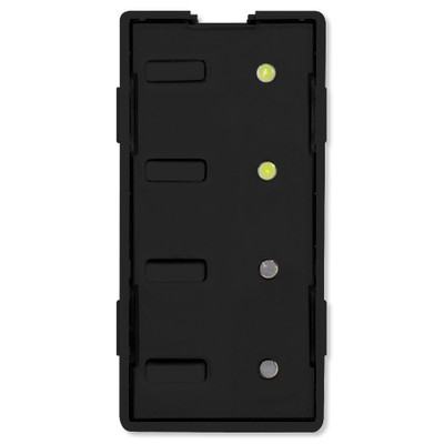 Simply Automated UPB Scene Controller Faceplate, 4 Bar Buttons, Black