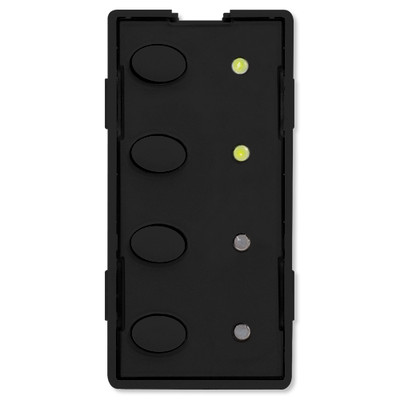 Simply Automated UPB Scene Controller Faceplate, 4 Oval Buttons, Black