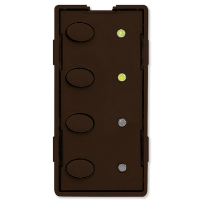 Simply Automated UPB Scene Controller Faceplate, 4 Oval Buttons, Brown