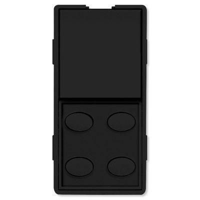 Simply Automated UPB Faceplate, Single Rocker & 4 Oval Buttons, Black