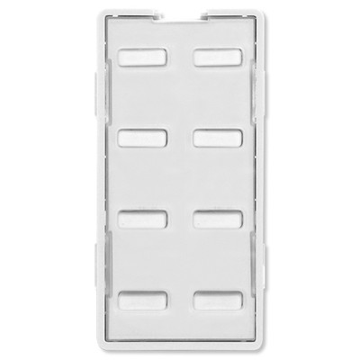 Simply Automated UPB Faceplate, 8 Bar Buttons, White