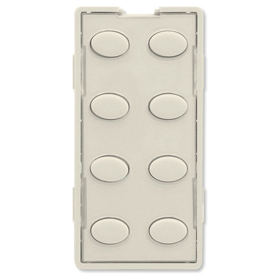 Simply Automated UPB Faceplate, 8 Oval Buttons, Light Almond