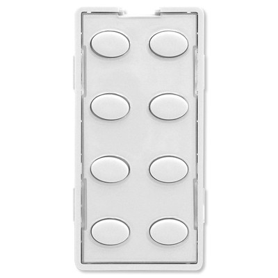 Simply Automated UPB Faceplate, 8 Oval Buttons, White