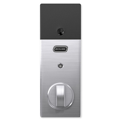 Schlage Connect Z-Wave Plus Deadbolt with Built-In Alarm, Century Style, Satin Chrome