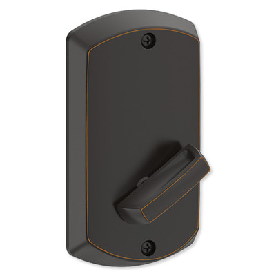 Schlage Control Smart Deadbolt with Greenwich Trim, Aged Bronze