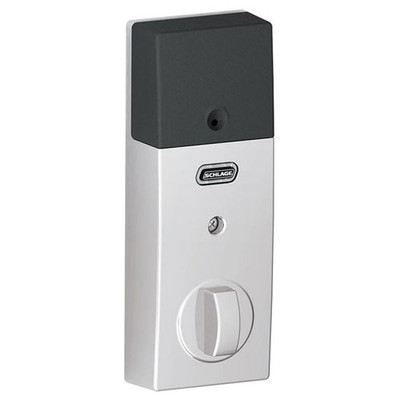 Schlage Connect Z-Wave Deadbolt with Built-In Alarm, Century Style, Bright Chrome