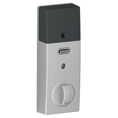 Schlage Connect Z-Wave Deadbolt with Built-In Alarm, Century Style, Satin Chrome