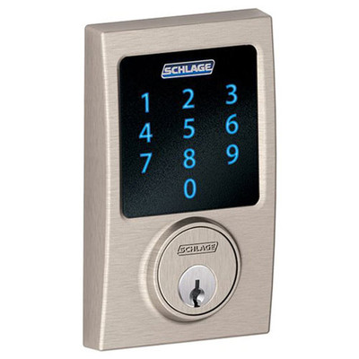 Schlage Connect Z-Wave Deadbolt with Built-In Alarm, Century Style