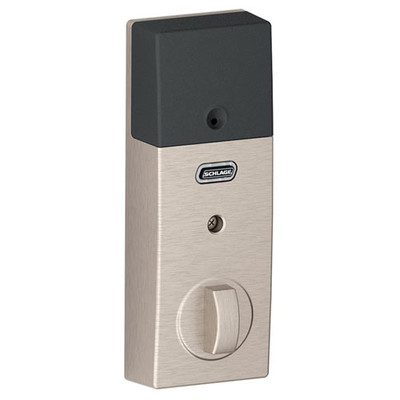 Schlage Connect Z-Wave Deadbolt with Built-In Alarm, Century Style, Satin Nickel