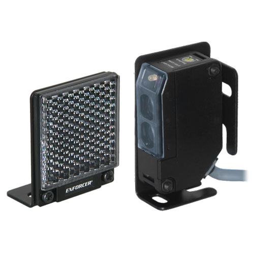 Seco-Larm Enforcer Reflective Beam Sensor with Square Reflector, 35 Ft.