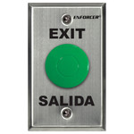 Seco-Larm Enforcer Slimline Green Request-to-Exit Plate with Pneumatic Timer