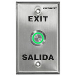 Seco-Larm Enforcer Push-To-Exit Plate, Vandal Resistant, Illuminated