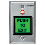 Seco-Larm Enforcer Push-to-Exit Plate, Illuminated (Dual-Color LED) with Timer