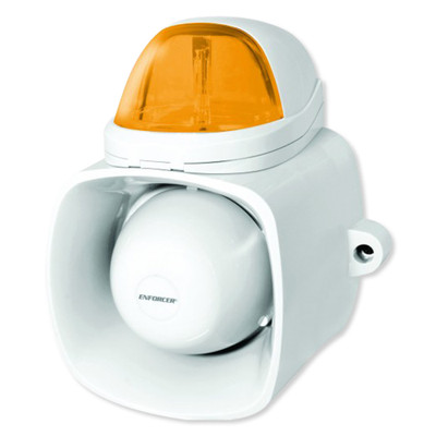 Seco-Larm Enforcer Self-Contained Siren/Strobe with Audio Input, Amber