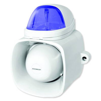Seco-Larm Enforcer Self-Contained Siren/Strobe with Audio Input, Blue