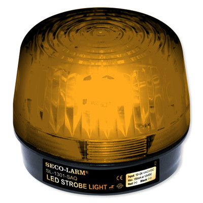 Seco-Larm Enforcer LED Strobe Light with Built-In Programmable Siren, Amber