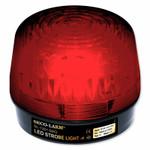 Seco-Larm Enforcer LED Strobe Light With Built-In Programmable Siren, Red