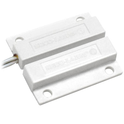 Seco-Larm Enforcer Magnetic Contact, Surface-Mount, Side Lead, 1 In. Gap, NC, White