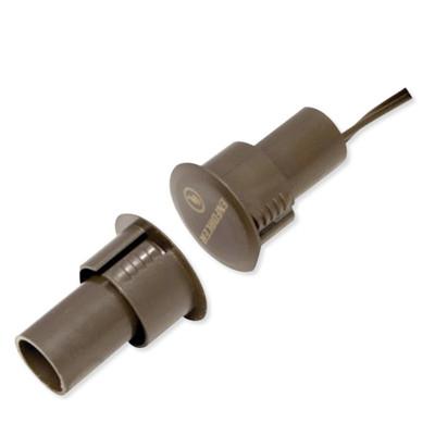 Seco-Larm Enforcer Steel Door Magnetic Contact, 3/4 In. Recessed, NC, 1 In. Gap, Brown