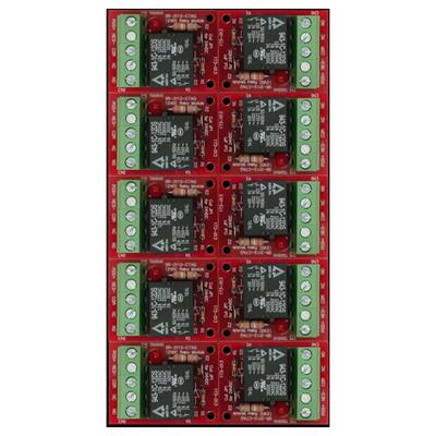 Seco-Larm Enforcer Relay Module, 12/24VDC Trigger Voltage, One 7A Form C SPDT (10 Pack)