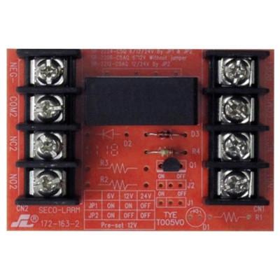 Seco-Larm Enforcer Relay Module, 6/12VDC Trigger Voltage, One 5A Form C DPDT Relay