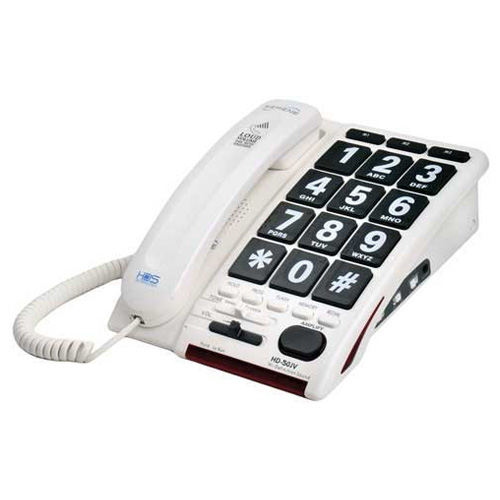 Serene Jumbo Keyed Amplified Telephone with Voice Activated No Touch Answering