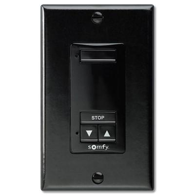 Somfy DecoFlex Wirefree RTS Wall Switch, 1-Channel, Black