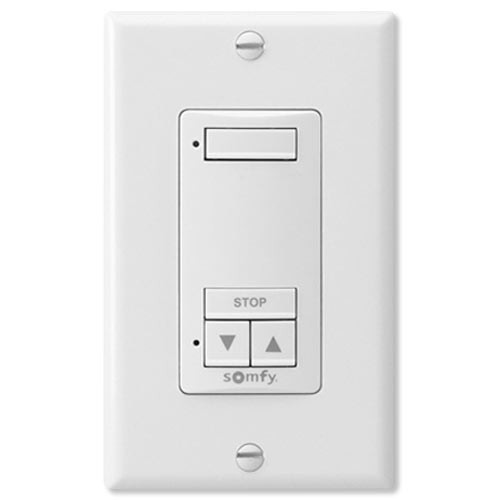 Somfy DecoFlex Wirefree RTS Wall Switch, 1-Channel, White