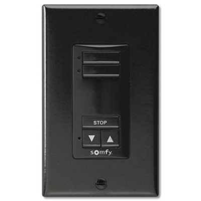 Somfy DecoFlex WireFree RTS Wall Switch, 2-Channel, Black