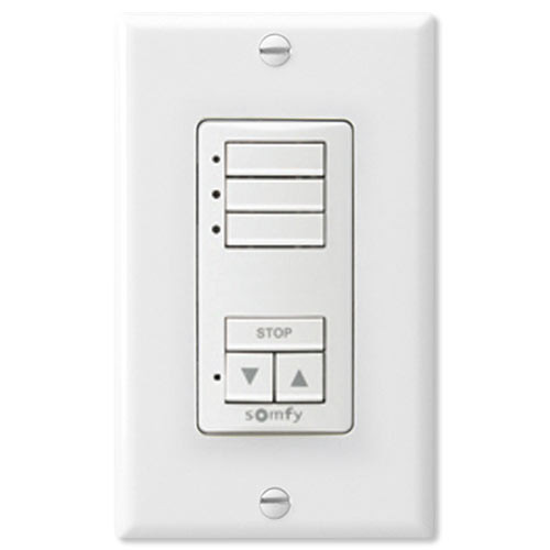 Somfy DecoFlex WireFree RTS Wall Switch, 3-Channel, White