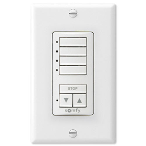Somfy DecoFlex WireFree RTS Wall Switch, 4-Channel, White