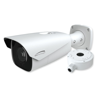 Speco 2MP License Plate Recognition IP Bullet Camera with Junction Box, 7-22mm Motorized Lens