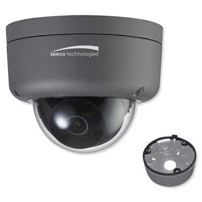 Speco 2MP HD Intensifier IP Dome Camera, 2.8mm Lens with Junction Box