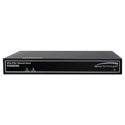 Speco 8-Port PoE 10/100 Switch