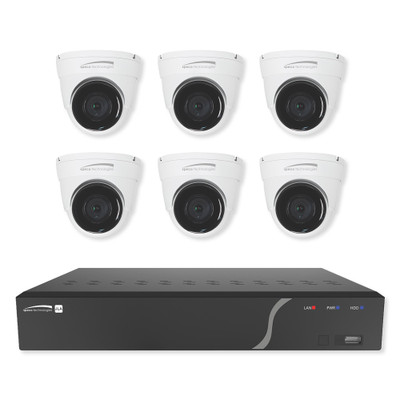 Speco Zip Kit: 8-Channel NVR With 6 Dome Cameras, 2TB