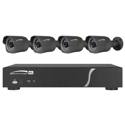 Speco Zip Kit: 8-Channel Network Video Recorder (NVR) & 4 Bullet Cameras