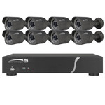 Speco Zip Kit: 8-Channel Network Video Recorder (NVR) & 8 Bullet Cameras