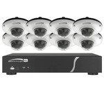 Speco Zip Kit: 8-Channel Network Video Recorder (NVR) & 8 Dome Cameras