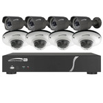Speco Zip Kit: 8-Channel Network Video Recorder (NVR), 4 Dome & 4 Bullet Cameras