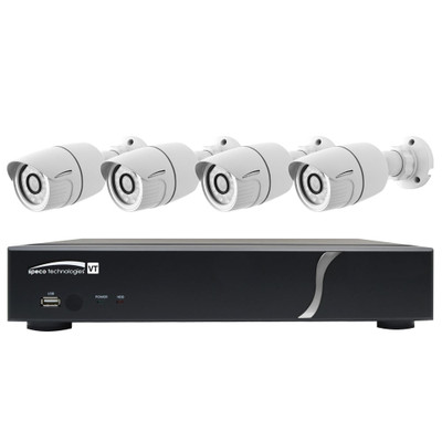 Speco HD-TVI Kit: 8-Channel Digital Video Recorder (DVR) with 4 Dome Cameras