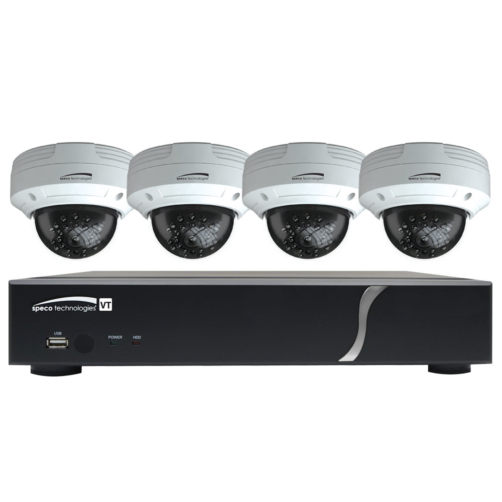 Speco HD-TVI Kit: 8-Channel Digital Video Recorder (DVR) with 8 Bullet Cameras