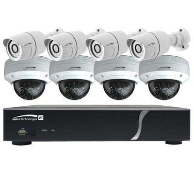 Speco HD-TVI Kit: 8-Channel Digital Video Recorder (DVR) with 4 Bullet Cameras