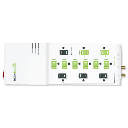 TrickleStar Advanced Powerstrip, 12-Outlet with Coax & RJ11/45, 4320 Joules