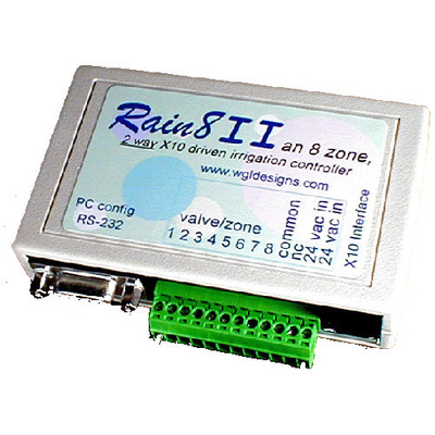 WGL Rain8II X10 Sprinkler Expansion Controller (2-Way), 8 Zones