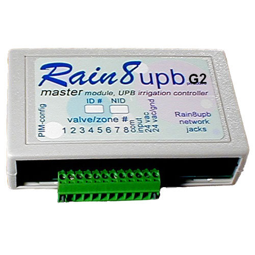 WGL Rain8upb G2 UPB Sprinkler Main Controller, 8 Zones