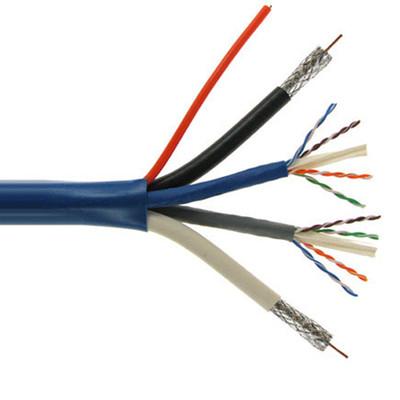 Bundled Cable (2 RG6 Coax, 2 Cat6, 2 Fiber Optic), 500 Ft., Jacketed
