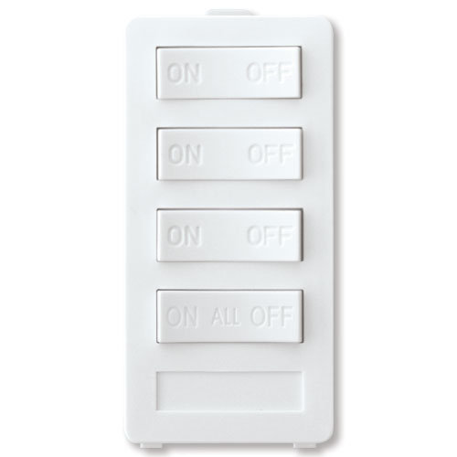 X10 PRO 4-Button Keypad (3-Address & All On/All Off), White