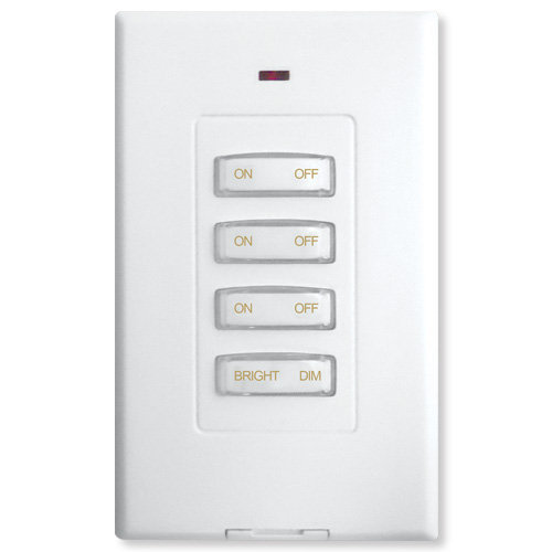 X10 Slimline Wireless Switch 3 Address Dimmer