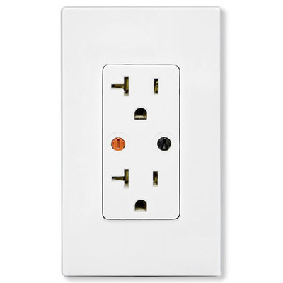 X10 Duplex Wall Receptacle (Both Outlets Controlled), White